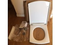 Brand New Modern Square White Soft Closing Square Toilet Seat £14