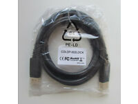 New DisplayPort cable (male to male)