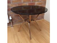 M & S Circular Black Glass Coffee Table, New & Boxed