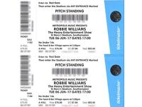 Two Robbie Williams tickets on 6th June St Mary's Stadium