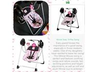 Minnie Mouse baby swing rocker chair.