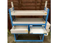 Van Racking / Shelving - Tool Station - Good Condition - Suitable For Medium To Big Van - Handwash
