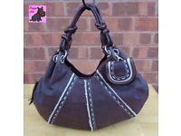 RADLEY Large Brown Textured Leather TIBET Hand/Shoulder Bag *Excellent Condition*