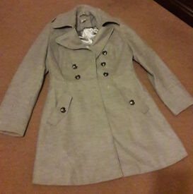 Light Grey Women's Size 12 Wallis mid-length coat