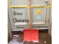 Clearance of fallen snow in your path or driveway / Roseburn or Murrayfield areas./