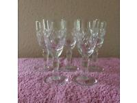 Set of Five Sherry Glasses