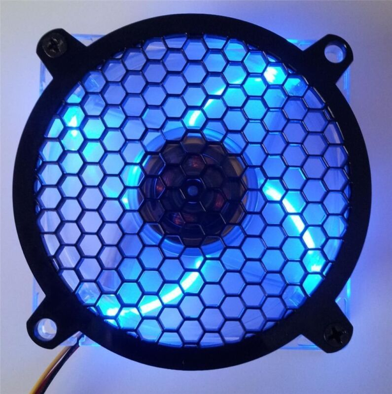 Custom 120mm HONEYCOMB Computer Fan Grill Gloss Black Acrylic Cooling Cover Mod