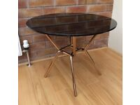 M&S Circular Black Glass Coffee Table. Boxed