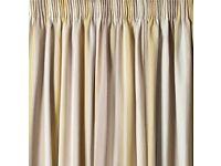 Laura Ashley Pencil Pleat Curtains (Awning Stripe Chamomile)