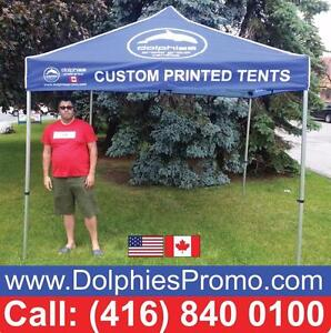 2 DAYS PRODUCTION: Heavy Duty Outdoor 10x10 EZ Pop Up Canopy Instant TENT Commercial Grade + CUSTOM Printed Canopy