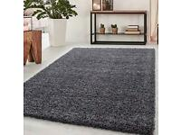 Grey Soft Warm Thick Shaggy Shag Fluffy Living Room Area Rug