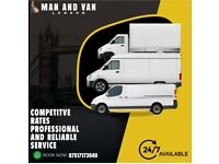 24/7 short notice man and van house removal delivery service home movers man with van