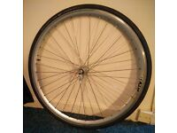 """26"""" front wheel - 700c road bike - quick release, new tyre and tube"""
