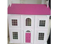 Doll's House with Furniture and dolls.