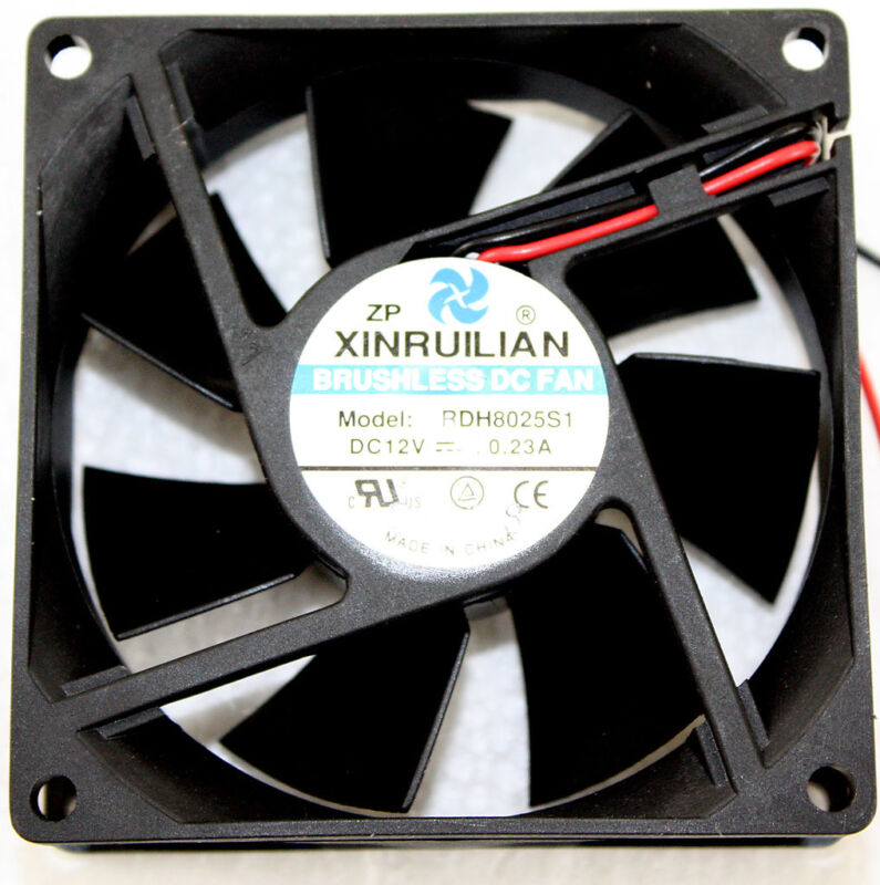 80mm Xinruilian RDH8025S1 Brushless DC Fan NEW DC12V .23a W/ Toggle Switch