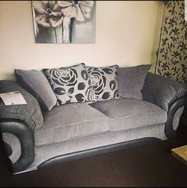 Grey 3&2 Seater Fabric Sofas