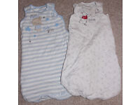 Baby sleeping bags x 2 -- 6-12 months