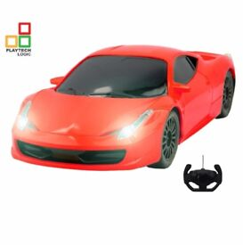 BRAND NEW UNOPENED BOX Kids Toy Ferrari Style RC Remote Control Car with Lights