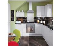 Slab White Gloss Stylish Kitchen Only £895