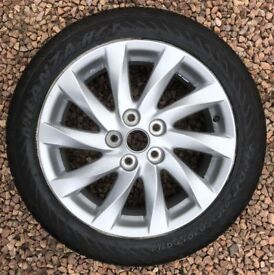 """17"""" INCH ALLOY WHEEL INCLUDING TYRE - IDEAL FOR A SPARE WHEEL - ONLY £70"""