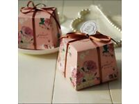 English rose pink favours