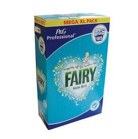FAIRY NON BIO XL MEGA BOX WASHNG POWDER (105 washes)