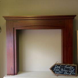 Ex Shop Display Tiverton Solid Warm Oak Mantel
