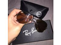 Rose gold Ray Bans