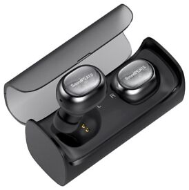 SnsoundPEATS Portable Bluetooth Wireless Headphones Q29 With Charging Base-Black