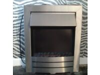 Stainless Electric inset Fire - Slightly faulty