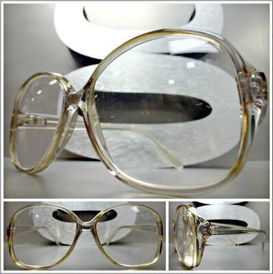 Klassisch Vintage Retro Stil Lesen Brillen Lesebrillen Groß Rund Kristall Frame