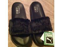 Fentys Sliders X Rihanna Size 4.5 Black ... Brand New with Tags, No Box or Bag