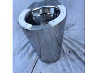 Stainless steel back to wall toilet with seat built in new unsed