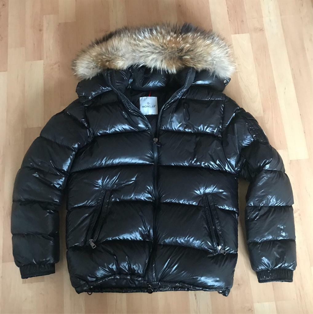 Men's Moncler Coat with real fur hood