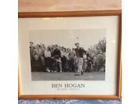 Framed Ben Hogan photographic poster