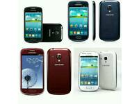 Brand New(Unlocked) Samsung Galaxy S3 Mini 8gb White And Blue Colour Fully Boxed Up
