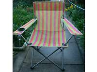 Colourful camp chair