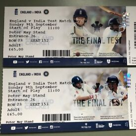 India vs England Day 3 - TwoTickets @Peter May Stand for £65 each (face value)