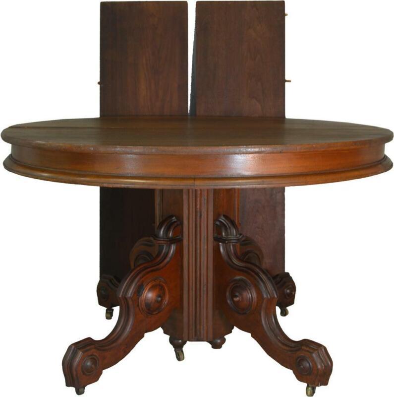 17581 Victorian Round Walnut Dining Table