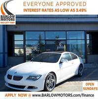 2008 BMW 650 I/HEATED/NAVI/SUNROOF/BLUETOOTH