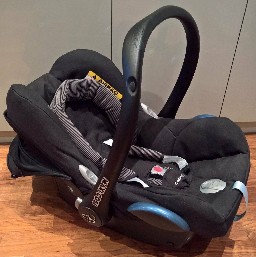 Maxi-Cosi CabrioFix Group 0+ Car Seat, Black Raven - Like New | in ...