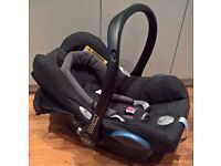 Maxi-Cosi CabrioFix Group 0+ Car Seat, Black Raven - Like New
