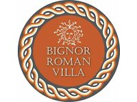 Bignor Roman Villa seeks Part-time Museum Assistant & a Weekend Museum Assistant
