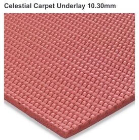 Celestial 10.30mm brand new luxury rubber underlay approx 54m2