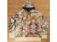 "Brand new authentic Christian Audigier men's luxury ""Buddha"" designer hoodie, size large"