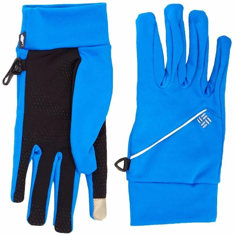 Columbia Mens S/M Trail Summit Touch Running Gloves Royal Blue SM9479 FAST! C6