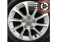 "16"" Genuine Audi A3 alloys Golf Caddy Leon excel cond premium tyres."