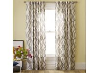 Cotton Grey and White Lattice Curtains