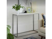 Dwell Marble Console Table White   RRP £349