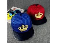 Metal crown cap hip hop cap street adjustable brand new